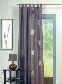 mit schlaufen great vorhang mint einzigartig gardine mit schlaufen oder kruselband streifen. Black Bedroom Furniture Sets. Home Design Ideas